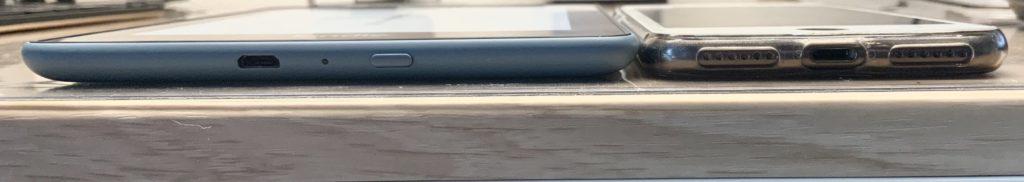 KindleとiPhone薄さ比較